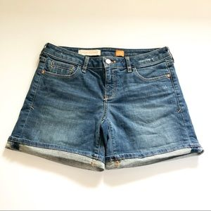 Anthropologie Pilcro Stet Roll Up Denim Shorts